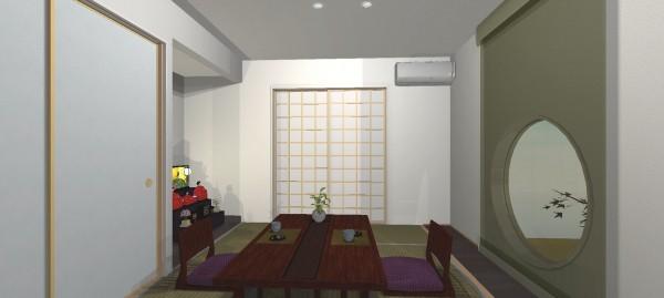 葛原邸0319和室和紙ブラインド